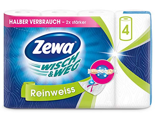 Zewa Wisch&Weg Küchenrolle Reinweiss, 1er Pack (4 x 45 ) Blatt