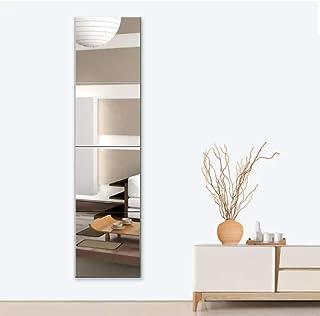 Huimei2Y 貼る鏡 全身鏡 壁掛け 貼るミラー ガラス姿見 軽量 おしゃれ DIY式 自由組合 取付簡単 22x22cm 4枚セット