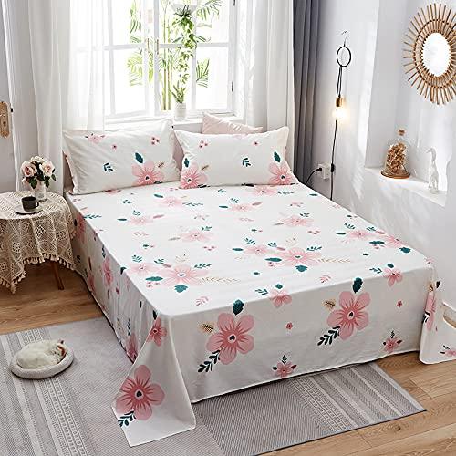 IKITOBI Sábana bajera ajustable, suave y transpirable, liso, doble con elástico alrededor. 230 x 250 cm (adecuado para cama de 1,8 m)