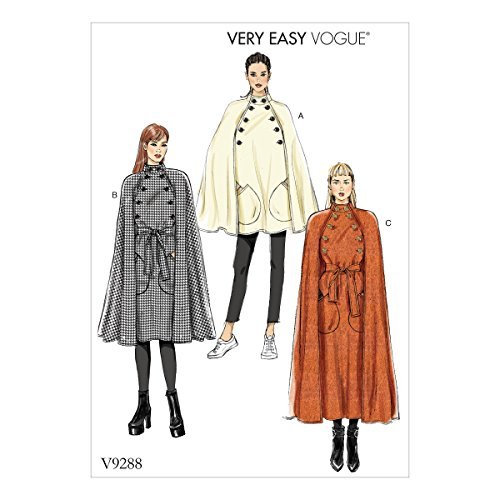 Vogue patroon Cape en riem, tissue, meerkleurig, 15 x 0,5 x 22 cm