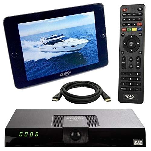 netshop 25 Xoro HRT 8724 Full HD HEVC DVB-T/T2 Receiver + 36 dB ANTENNE (H.265, HDTV, HDMI, Irdeto Zugangssystem, Mediaplayer, PVR Ready, USB 2.0, 12V) schwarz !! GRATIS 3 Monate Privatsender in HD