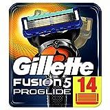 Gillette Fusion 5 ProGlide Cuchillas de Afeitar Hombre con Tecnología FlexBall, Paquete de 14 Cuchillas de Recambio