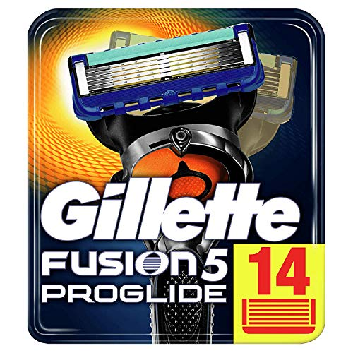 Gillette Fusion5 ProGlide Lamette di Ricambio per Rasoio, 14 Lamette