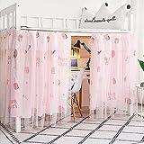 dormitorio per ragazze recinto per letto ombra antipolvere tessuto oscurante dormitorio per studenti tende per letto a castello zanzariera letto a baldacchino tenda tenda-16, 1,15 m (4 piedi) letto