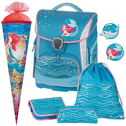 Ocean - Meerjungfrau - Schneiders TOOLBAG Plus mit LED-LEUCHTSYSTEM und PATCHIES - Schulranzen-Set 5tlg mit SCHULTÜTE - 78376-070