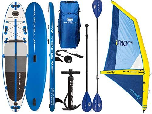 Brunelli 10.8 Windsurf Premium SUP mit aufblasbarem iRIG Segel Größe L