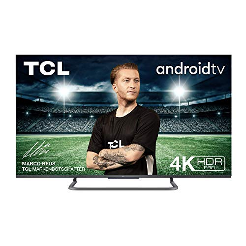 TV TCL 55P816 55 pollici, 4K HDR PRO, Ultra HD, Smart TV con sistema Android 9.0, Design senza bordi in alluminio (Controllo Vocale Hands-Free, Compatibile con Google Assistant & Alexa)
