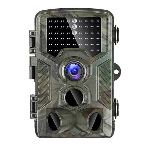 WYYHAA Wildkamera Fotofalle Mit Bewegungsmelder/Hinterkamera 20MP 1080P HD Tier-Jagd-Cam Mit 120 ° Weitwinkel 98Ft Erfassungsbereich 46 Pcs LED 0.2S Trigger-Geschwindigkeit 2.4