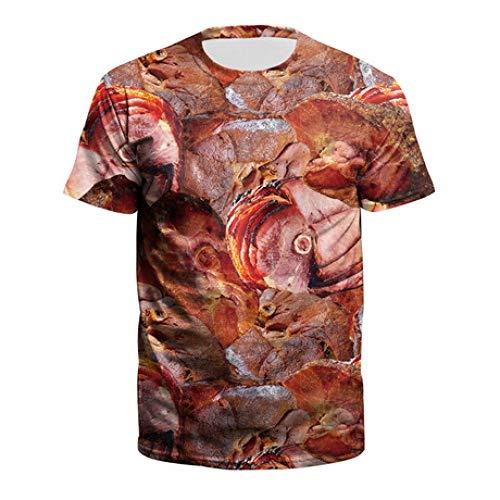 Herren Kompressionshemd Sommer Herren T-Shirt Europäisches und Amerikanisches Rindfleisch 3D...