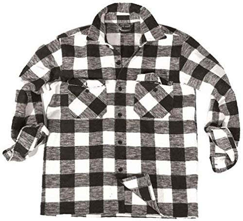 Chemise bucheron - Blanc et Noir
