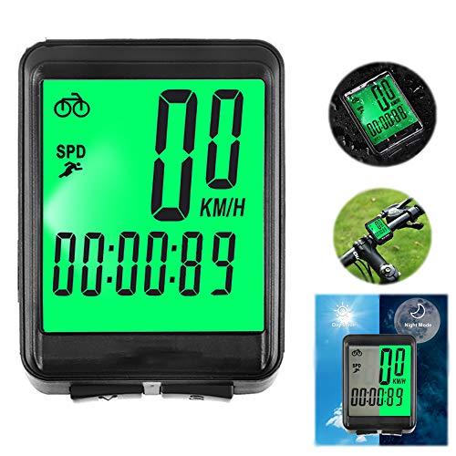 XIYAN Seguimiento Moto Velocímetro, Electrónica cadencia Bicicleta Ordenador 2.1In LCD Records Riding...