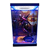 SNH Die-Casting Alloy Fulian 3 Iron Man MK50 6:1 Model Only Display Box Model Storage Acrylic LED Light HD Background Inkjet Display Box Handmade GK Dust Cover (Color : No Light)