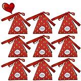 JYCRA Geschenkboxen, Set mit 30 dekorativen Leckereien, Kuchen, Kekse, Süßigkeiten, Geschenkverpackungen für Weihnachten, Geburtstage, Urlaub, Hochzeit 8x8x9CM Xmas Tree
