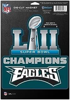 NFL Philadelphia Eagles Super Bowl LII Champions Trophy Logo Magnet, 6 x 9-inches