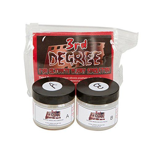 3rd Degree Silicone LIGHT FLESH TONE 2 oz kit - Injury Simulation Prosthetic Silicone for Special...