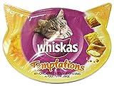 Whiskas Set 8 Biscotti Temptation Pollo & Formaggio 60 Gr. Cibo...
