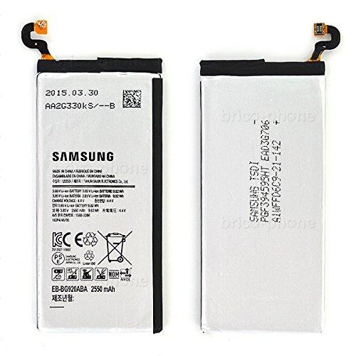 Batería Original de reemplazo de Samsung Compatible con Samsung Galaxy S6 Modelo G920F (Paquete a Granel sin Caja)