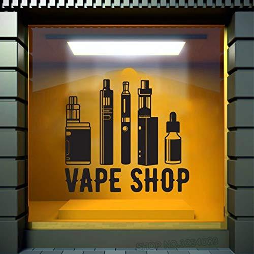 Ajcwhml Vape Shop Tatuajes de Pared Coma el sueño Vape Pegatinas de Pared NO Fumar Vinyl Vaping Shop Decor Vinilos para Ventanas de Tiendas extraíbles 57X62CM: Amazon.es: Hogar