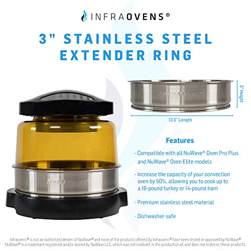 Extender Ring Replacement Accessory Compatible with NuWave Oven Pro Plus & Elite