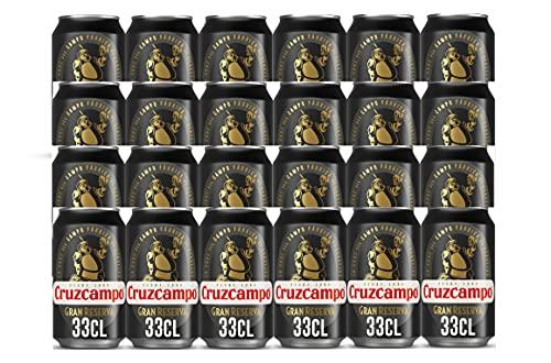Cruzcampo Cerveza Gran Reserva - Pack de 24 latas x 330 ml - 7920 ml
