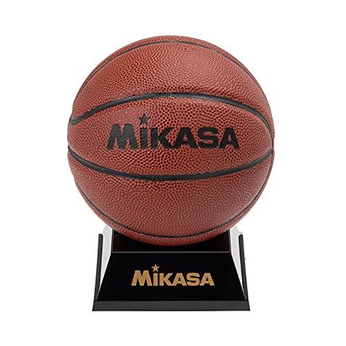 ミカサ(MIKASA) マスコットボール サインボール バスケット 記念品用 化粧ケース入 飾れるボール架台付き 人工皮革 茶 PKC3-B