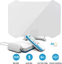 ANTOP ANTENNA AirTV Player with Dual-Tuner Local TV Adaptor and ANTOP AT-133 50 Miles Indoor HDTV Antenna Bundles with Dual DVR Capable and Voice-Search-Compatible Remote, airtv Player 133