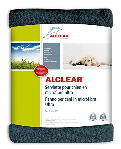 ALCLEAR A257341M Panno per Cani in Microfibra Ultra, Dimensioni: 60 x 60 cm, Grigio