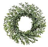 Simply Flora Artificial Wreath- Decorative Powdered Tea Leaf - 12 inches