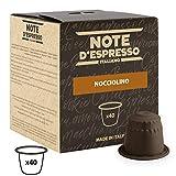 Note D'Espresso - Cápsulas de bebida instantánea de avellana, 7g (caja de 40 unidades)
