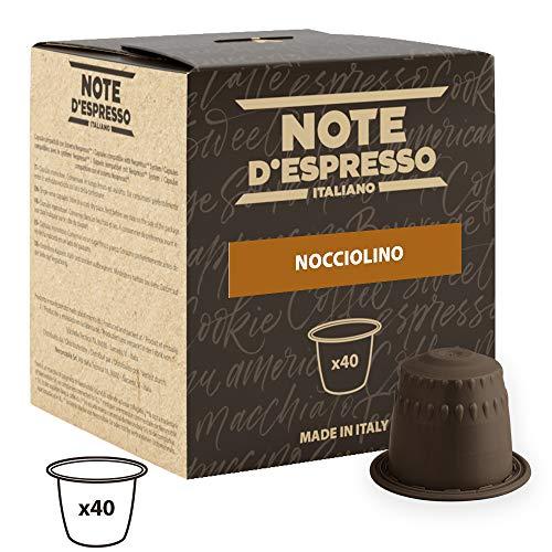 Note D\'Espresso Cápsulas de Bebida Instantánea de Avellana - 40 Unidades de 7g, Total: 280 g