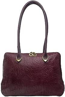 Hidesign Yangtze 03 Handbag for Women - Genuine Leather, Aubergine