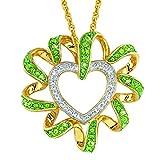 The Danbury Mint Birthstone Beauty Diamond Heart Pendant - August #2627-005