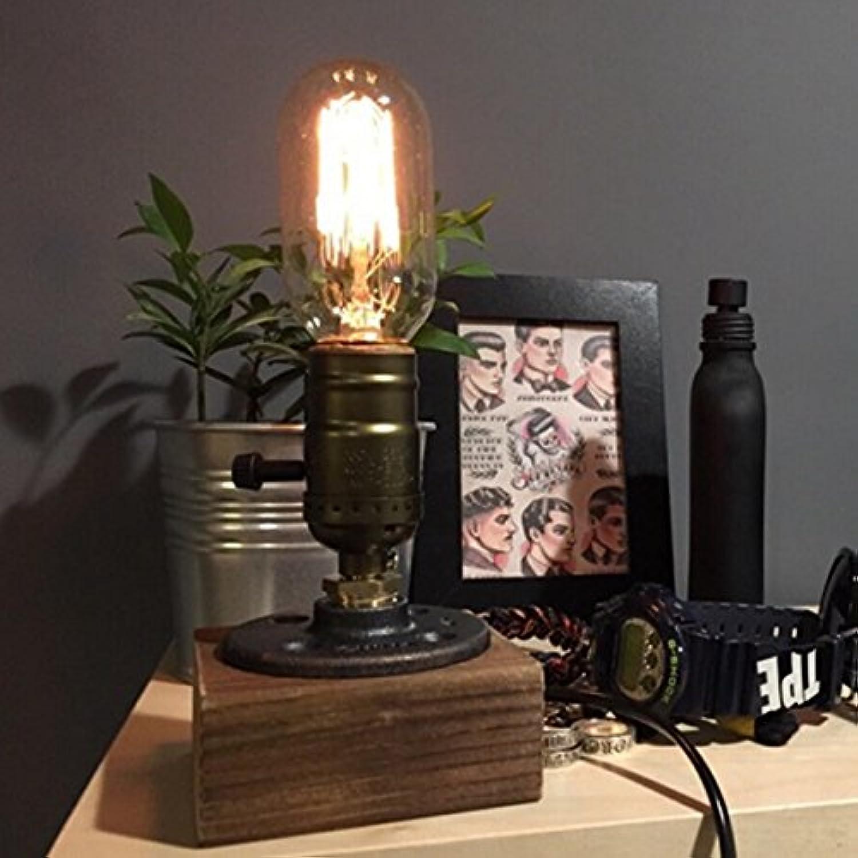 ZHENWOFC Loft Vintage T45 Edison Lampe Tischlampe Tischlampe Tischlampe Wasserpfeife Licht Home Bar Decor Innenlicht (Farbe   002) B07N5GXJ65 | Reichhaltiges Design  da36a5