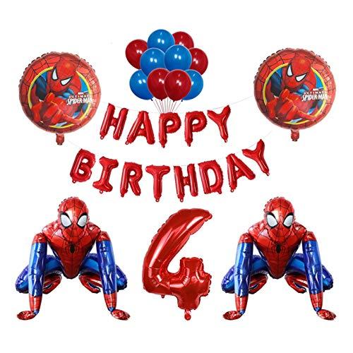 JSJJAET Globos de cumpleaños 3D Foil Super Hero Hombre Globo Spiderman Fiesta de cumpleaños Decoración para niños Juguete para niños Ducha Bebé Globo Air Globo Fotos Props (Color : 12)
