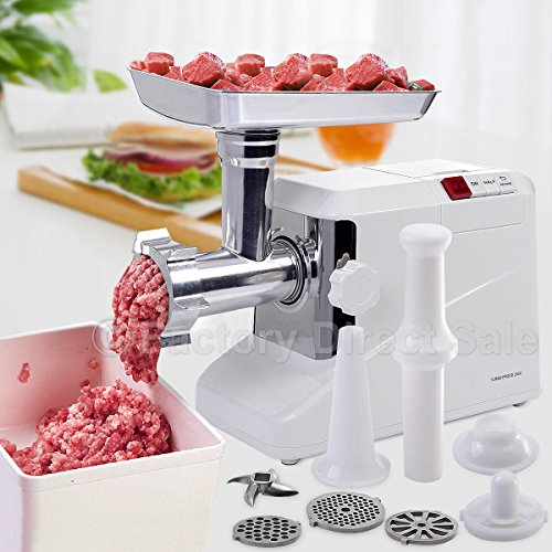 2000 Watt Meat Grinder Electric 2.6 HP Industrial Meat Grinder 3 Speed w/3 Blade