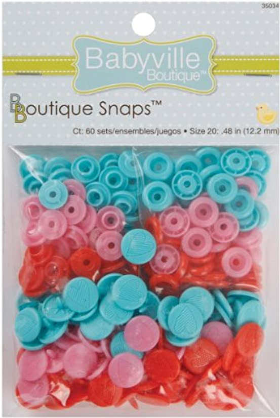 Babyville Boutique 35034 Snaps, Size 20, Sweet Stuff Hearts (60-Sets)