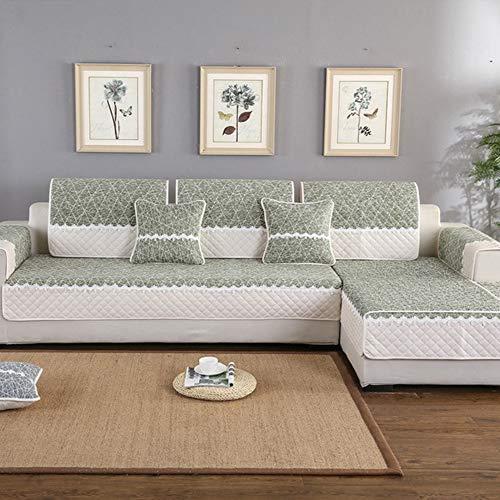 Suave Funda De Sofá Microelástica, Impresión de Felpa Suave, cojín de sofá Grueso, Funda de cojín Antideslizante para sofá de Sala de Estar 70×150cm
