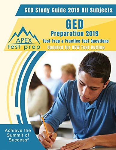 Price comparison product image GED Study Guide 2019 All Subjects: GED Preparation 2019 Test Prep & Practice Test Questions (Updated for NEW Test Outline)