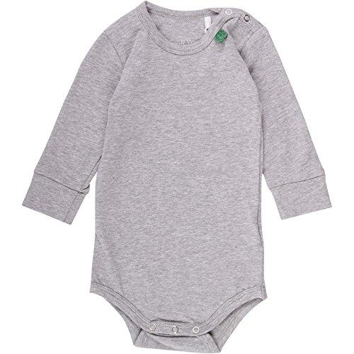 Fred'S World By Green Cotton Alfa Body, Gris (Pale Greymarl 207670000), 92 Mixte bébé