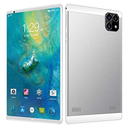 ELLENS Tablet Android da 8 Pollici, CPU Quad Core, 1 GB di RAM 16 GB Rom 128 GB di Estensione, Telefono Sbloccato Dual SIM, WiFi, GPS, Bluetooth