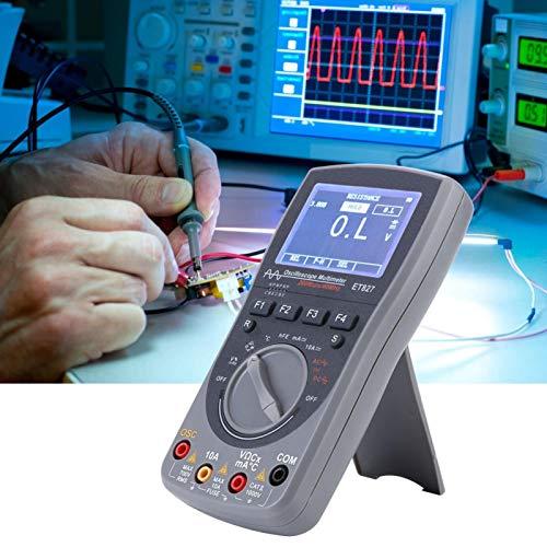 Equipo de prueba Multímetro ET827 40Mhz 200Msps Osciloscopio digital Probador portátil 2 en 1 para electricista con pantalla de alta definición