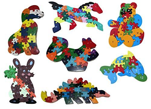 Darlinton & Sohns Kinderspel Tellen leren kinderen houten spel leren spel groot telframe tel-hulp natuurhout speelgoed