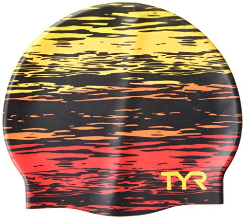 TYR Sunset Silicone Adult Fit, Red/Yellow