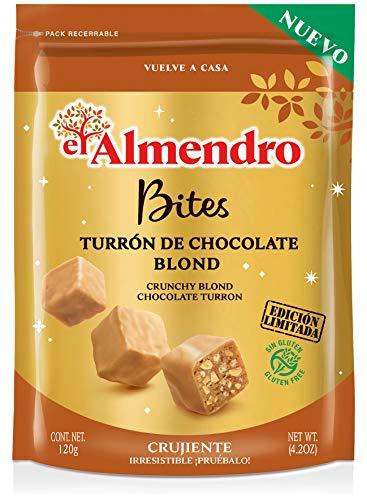 El Almendro Bites De Turrón De Chocolate Crujiente Blond - 120 gr