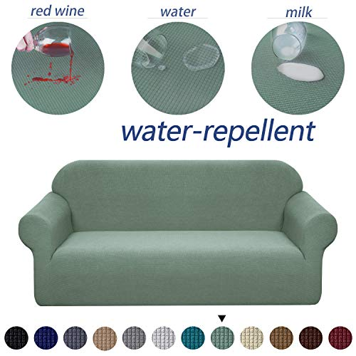 Granbest Premium Water Repellent Sofa Cover High Stretch Couch Slipcover Super Soft Fabric Couch Cover (Matcha Green, Sofa)