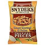 Snyder's Pretzel Pieces – Honey Mustard und Onion, Leckeres Bretzelgebäck – Salziger...