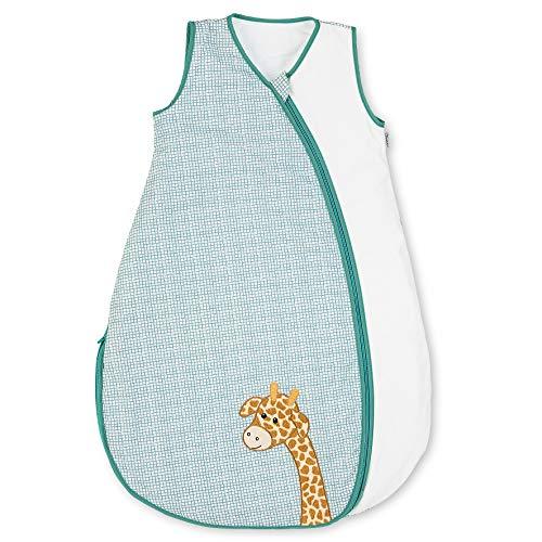 Sterntaler Sommer-Schlafsack Kuschelzoo für Kleinkinder, Reißverschluss, Größe: 110, Weiß/Grün