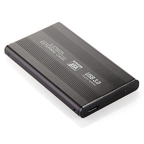 MEMTEQ 2,5' Box Esterno Protettivo USB3,0/SATA HDD Disco Rigido Hard Disk Nero per PC