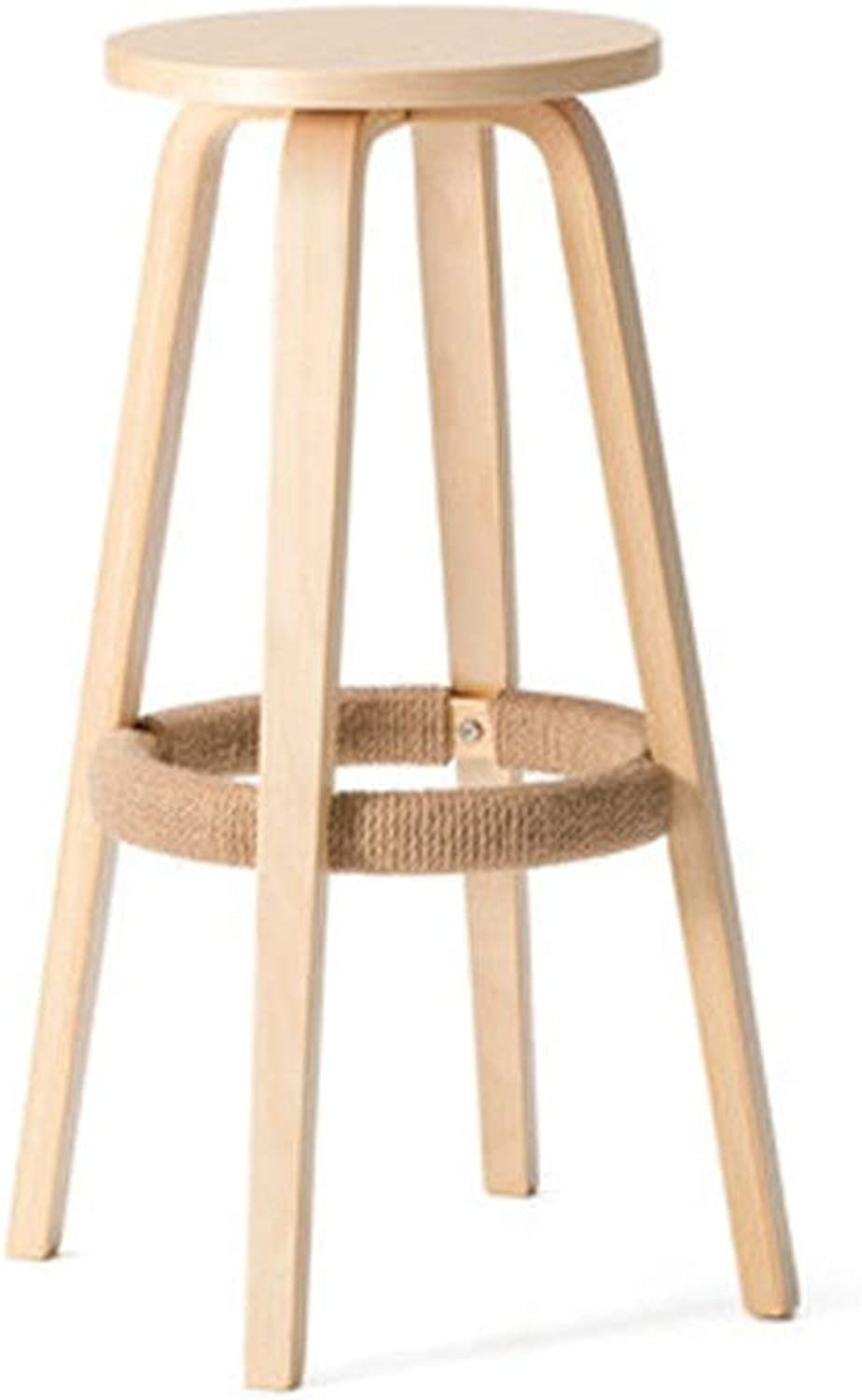 Bar Stool Fashion Simple Modern Solid Wood Round Bar Chair Bar Home Coffee Chair Table and Chair Without Backrest Restaurant High Bar Stool (color   C11, Size   As Shown)