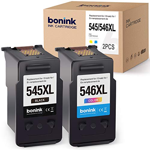 BONINK 2 Kompatibel Canon PG-545XL CL-546XL Druckerpatronen für Canon PIXMA MX495 TS3150 TS3151 MG2450 MG2550 MG2550S MG2950 MG3050 MG3051 MG3052 MG3053 TS205 TS305 iP2850 (Schwarz/Farbe)